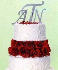 Wedding Cake Topper Mirrored Monogram Letter J 4.5in Showers Parties Grad Bg