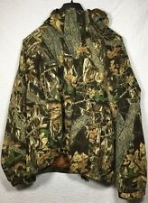 Columbia Sportswear Hooded Hunting Jacket Camo Camouflage L Full Zip Packable