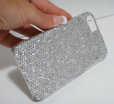 Clear White Made with Swarovski Crystals Shiny Sparkle Glitter Gem Case iPhone X