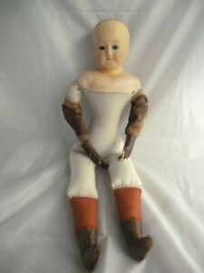 """Antique  composition head doll 1890s  has good body for spares / repairs 20"""""""