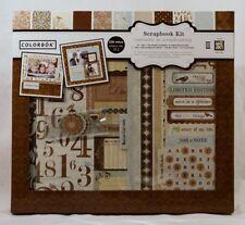 Colorbok SHABBY CHIC 12x12 DIY Scrapbook Photo Album Kit,16 sheets,6 chipboard