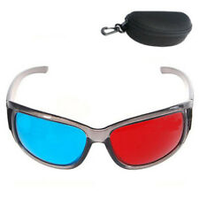 3D Glasses Red Cyan Blue Hard Plastic Eye Anaglyph 3D Movies Viewer + Case