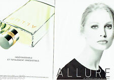 PUBLICITE ADVERTISING 046  1998   Allure parfum femme  de Chanel ( 2p)