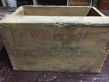 Vintage Remington Wetproof Small Arms Ammunition Wooden Box