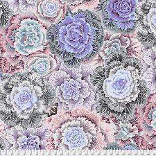 "26/"" REMNANT Alice Hickey Cottage Garden ~ Fantasy Rose Lavender ~ Floral Fabric"