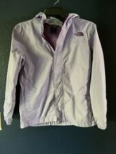 Euc North Face Girls Resolve Hyvent Rain Jacket Hood Purple Size Lg14/16