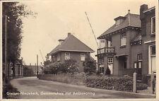 ANSICHTKAART GIESSEN-NIEUWKERK GEMEENTEHUIS MET AMBTSWONING (ca.1939)