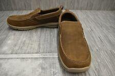 Skechers Harper Forde 64858EWW Slip On Casual Shoe - Men's Size 13EWW, Brown