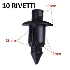 RIVETTI SCATTO CLIPS 8 MM PLASTICA FERMI VITI CLIP CARENA CODONI PUNTALI CARENE