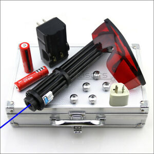 BX3-II 1MW Adjustable Focus 450nm Blue Laser Pointer Visible Laser Torch Pen AU