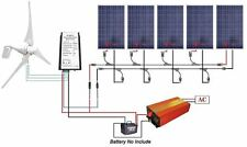 900W Complete System - 400W Wind Turbine & 5*100W Solar Panel & 1KW Pure Sine Wa