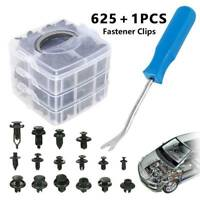 625pc Car Trim Body Clips Kit Rivets Retainer Door Panel Bumper Plastic Fastener
