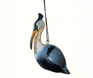 DECORATIVE BIRDHOUSES - Heron Birdhouse - HAND CARVED & PAINTED WOOD SE090