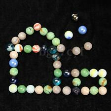 45 x Colorful Glass Marbles Children Toys Glass Ball Kids Traditional Games New