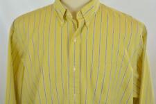 Ralph Lauren XL Vintage Button Down Yellow Blue Stripe Long Sleeve Dress Shirt