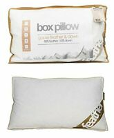 Luxury Goose Feather & Down Box Pillows Extra Filling Comfort Hotel Quality