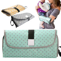 Babies Traveling and Outdoors Portable Changing Mat Case Clean Hands Pad Diaper