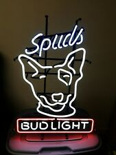 budweiser-bud light beer spuds mackenzie lighted original neon sign-1987