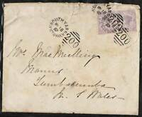 VICTORIA 1887 Duplex SOUTH YARRA BN 200 cover to TUMBERUMBA etc NSW cds b/stamp
