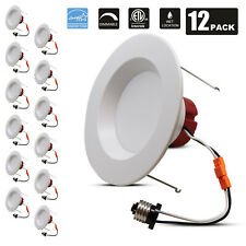 12Pack 5/6Inch Dimmable LED Recessed Light Warm White Ceiling Downlight E26 base