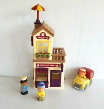 Step 2 Main Street Village Cafe Bakery Playset with Delivery Truck and 3 Figures