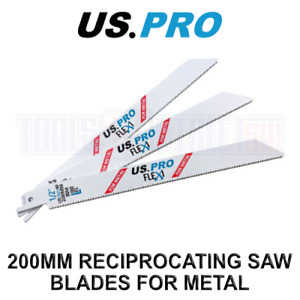 US PRO Tools 5 X 200MM Reciprocating Saw Blade For Metal US1025BF 9137