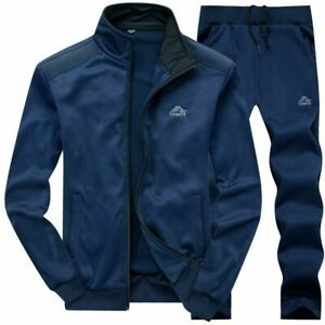 Men Tracksuits Sportswear Autumn Jacket Pants Casual Gyms Sweatshirt 2 Piece Set