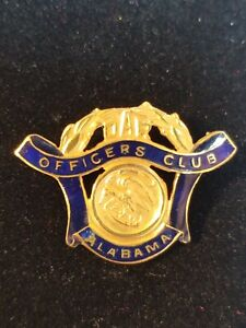 DAR Daughters of the American Revolution Alabama  State Officers Club Pin