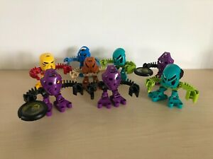 Lego Vintage Bionicle Matoran 2001 Tohunga Lot of 8 1388 1389 1390 1391 1392