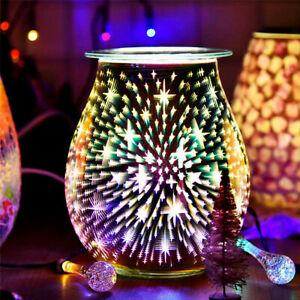 NEW Aroma Electric Wax Melt Burner 3D Lamp Night Light Tart Wax Warmer 2021