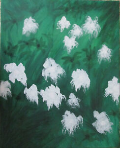 """Still Life Cleosia On Sale Painting by West Davis Acrylic 20"""" New From Gallery"""