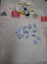 Australian Test Team 2010 Ashes:  Signed Official Test Match cricket shirt + COA
