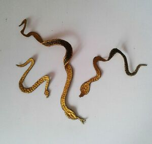 Snakes 3 Pieces Set (Small) Handmade Sew-On Embroidered Patch