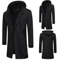 Men's Hoodie Hooded Sweater Knitted Cardigan Long Sleeve Casual Slim Jacket Coat