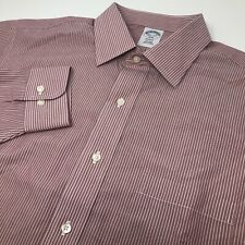 Brooks Brothers Non-Iron Regent Men's 16.5-2/3 Long Sleeve Button Front Shirt