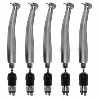 5 Dental High Speed Handpiece Air Turbine with 4 Hole Coupler Coupling Swivel