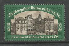 Steckenpferd Buttermilk Soap advertising stamp (Ehrenburg Palace, Coburg)