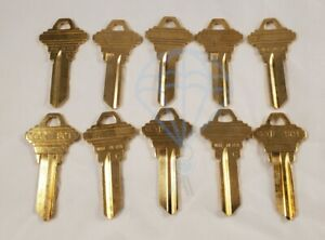 TEN 10 ESP SC1 1145 Schlage 5-Pin Cylinder Key Blank Uncut Key Brass Locksmith