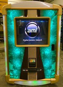 AMI Nitehawk digital internet Green Jukebox Reconditioned DUAL AMPS