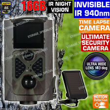Hunting Camera Scout Trail Solar Kit Wireless Home Security Farm No Spy Hidden