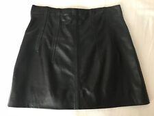 Topshop Unique Leather Mini Skirt Black UK 10