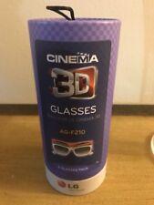 LG Cinema 3D Glasses 2 Glasses pack for 2011 & 2012 LG 3D LED-LCD HDTVs- AG-F210