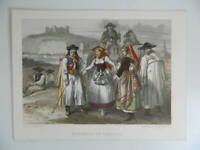 Xixth Engraving Coloured Rouargue Chardon Hungarian And Croatian C.1850