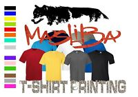 T-SHIRT PRINTING  ADD YOUR OWN TEXT OR IMAGE MASLIBA