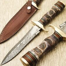 FABULOUS CUSTOM HAND MADE DAMASCUS STEEL DAGGER KNIFE- SB-2719