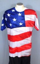 GET A LIFE XL Red White Blue T-Shirt American Flag Patriotic Polyester