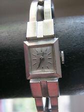 Vintage Whittnauer women's 10K gold filled silver cuff watch, wind up, Swiss