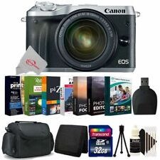 Canon EOS M6 Mirrorless Camera Silver with 18-150mm Lens + 32GB Accessory Kit