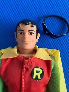 1973  Mego  REMOVABLE MASK ROBIN   HIGH GRADE beauty !!  Batman