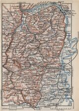 RHEINHESSEN. RHENISH HESSE. Mainz Mannheim Worms Kreuznach. Germany 1889 map